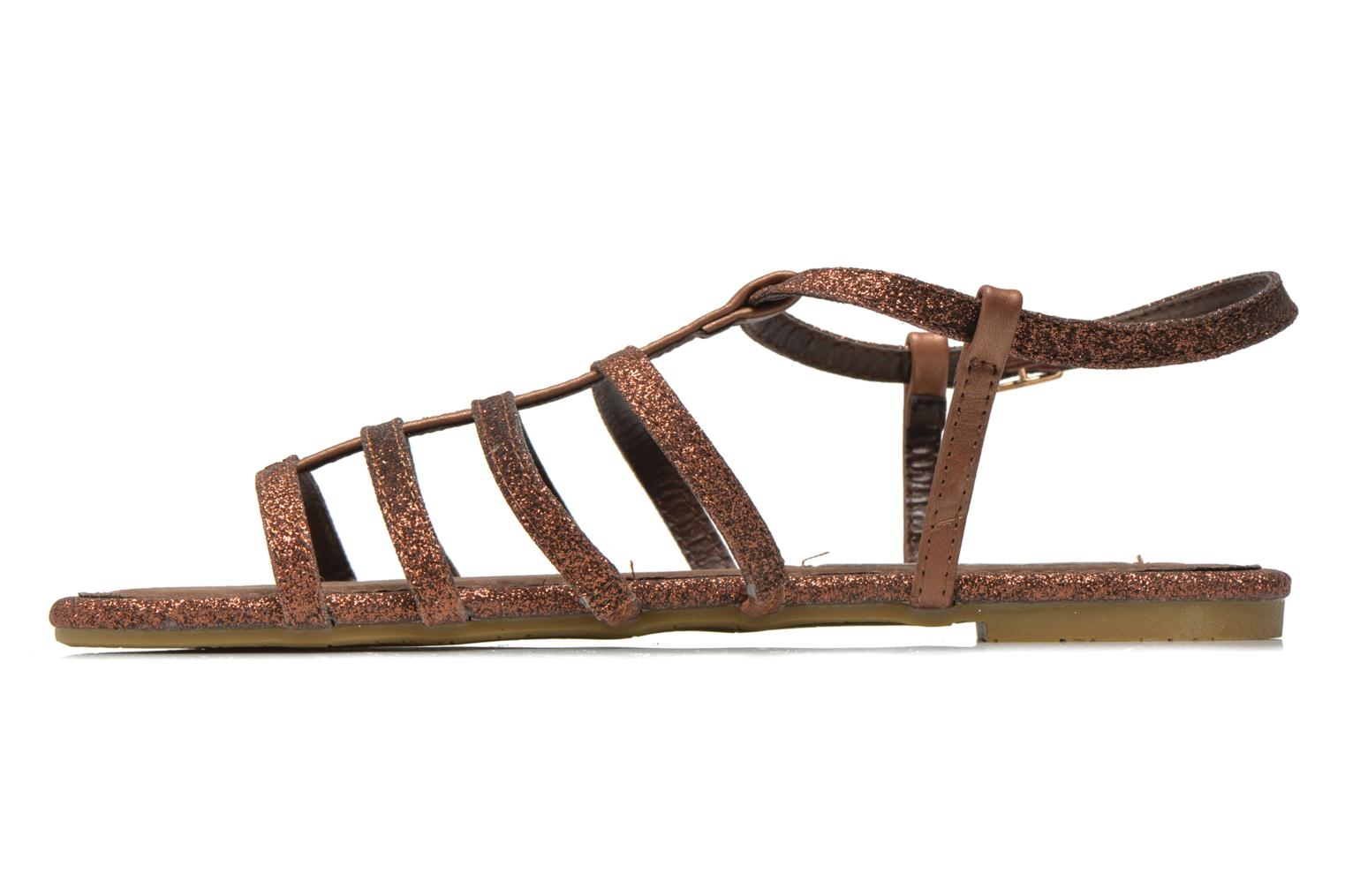 Sandals Xti Dominicana 30160 Bronze and Gold front view