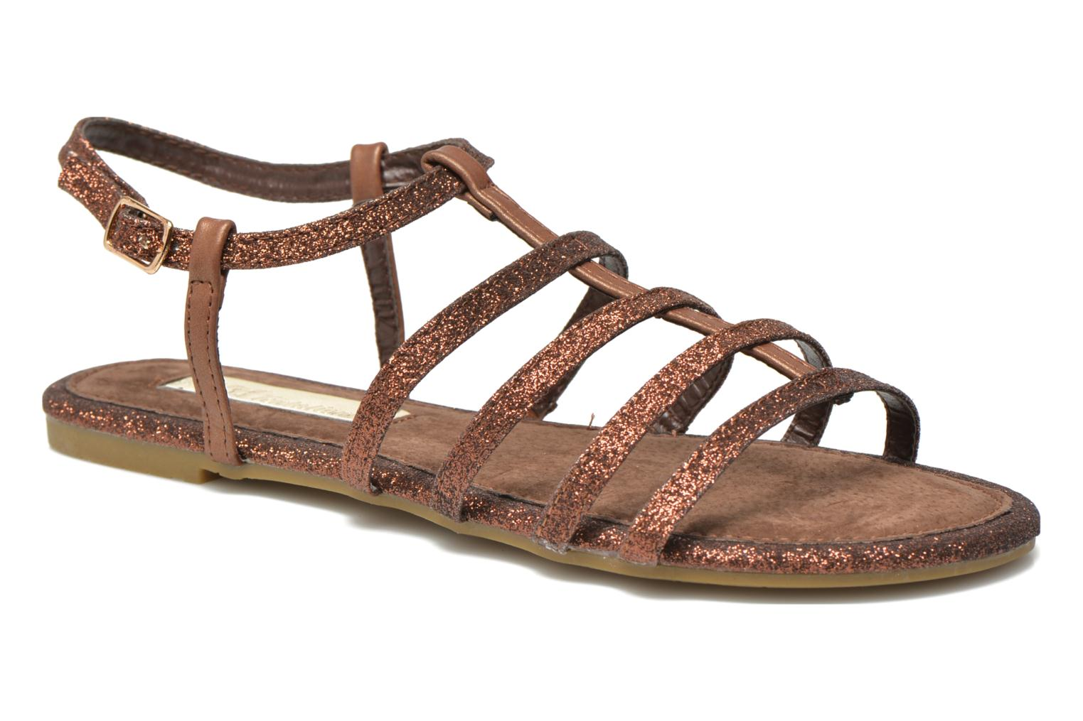 Sandals Xti Dominicana 30160 Bronze and Gold detailed view/ Pair view