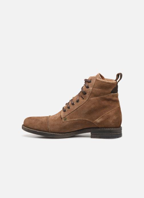 Boots en enkellaarsjes Levi's Emerson Lace Up Bruin voorkant