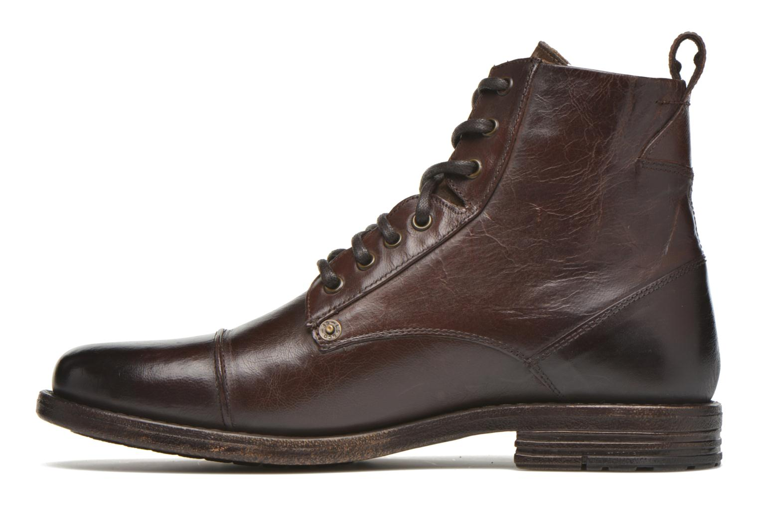 Ankle boots Levi's Emerson Lace Up Brown front view