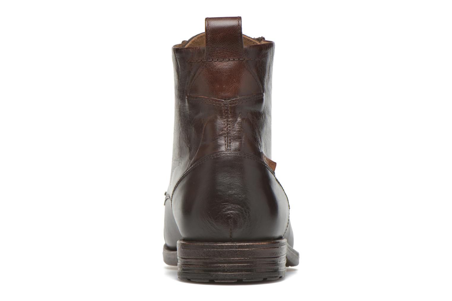 Ankle boots Levi's Emerson Lace Up Brown view from the right