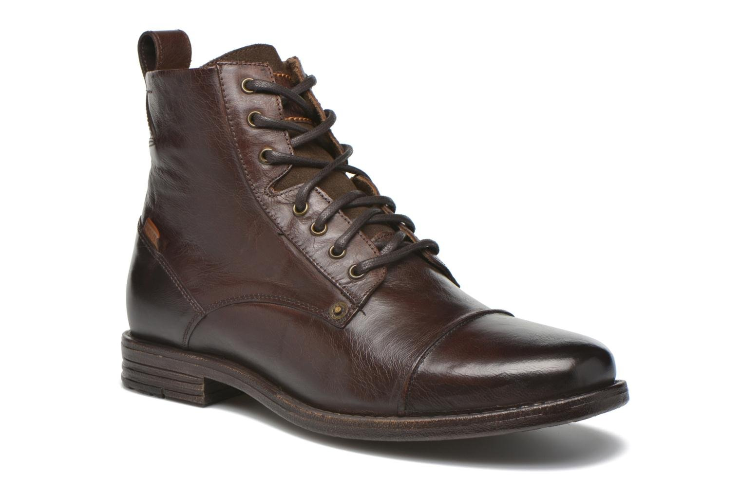 Ankle boots Levi's Emerson Lace Up Brown detailed view/ Pair view