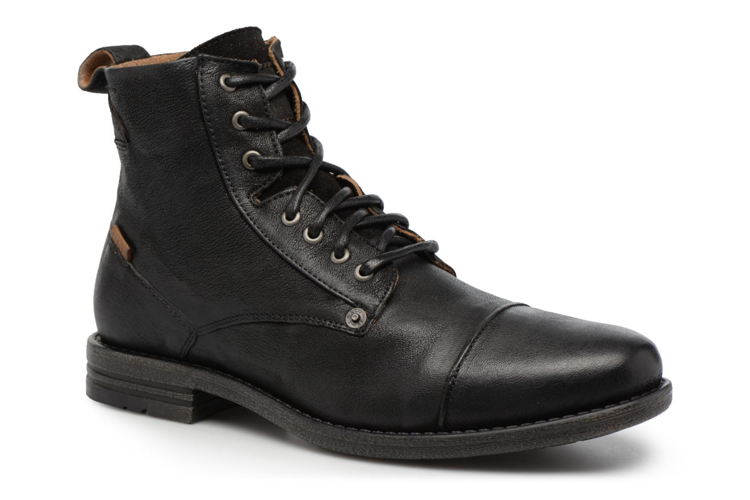 Ankle boots Levi's Emerson Lace Up Black detailed view/ Pair view