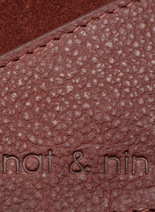 Kleine lederwaren Nat & Nin Talia Bordeaux links