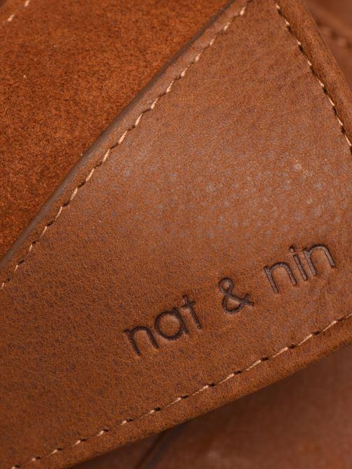 Kleine lederwaren Nat & Nin Talia Bruin links