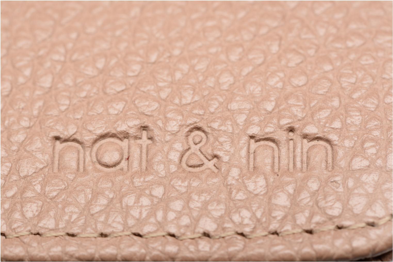 Petite Maroquinerie Nat & Nin Talia Beige vue gauche