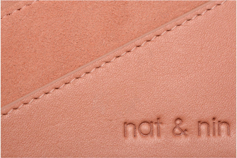 Kleine lederwaren Nat & Nin Talia Roze links
