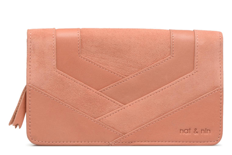 Kleine lederwaren Nat & Nin Talia Roze detail