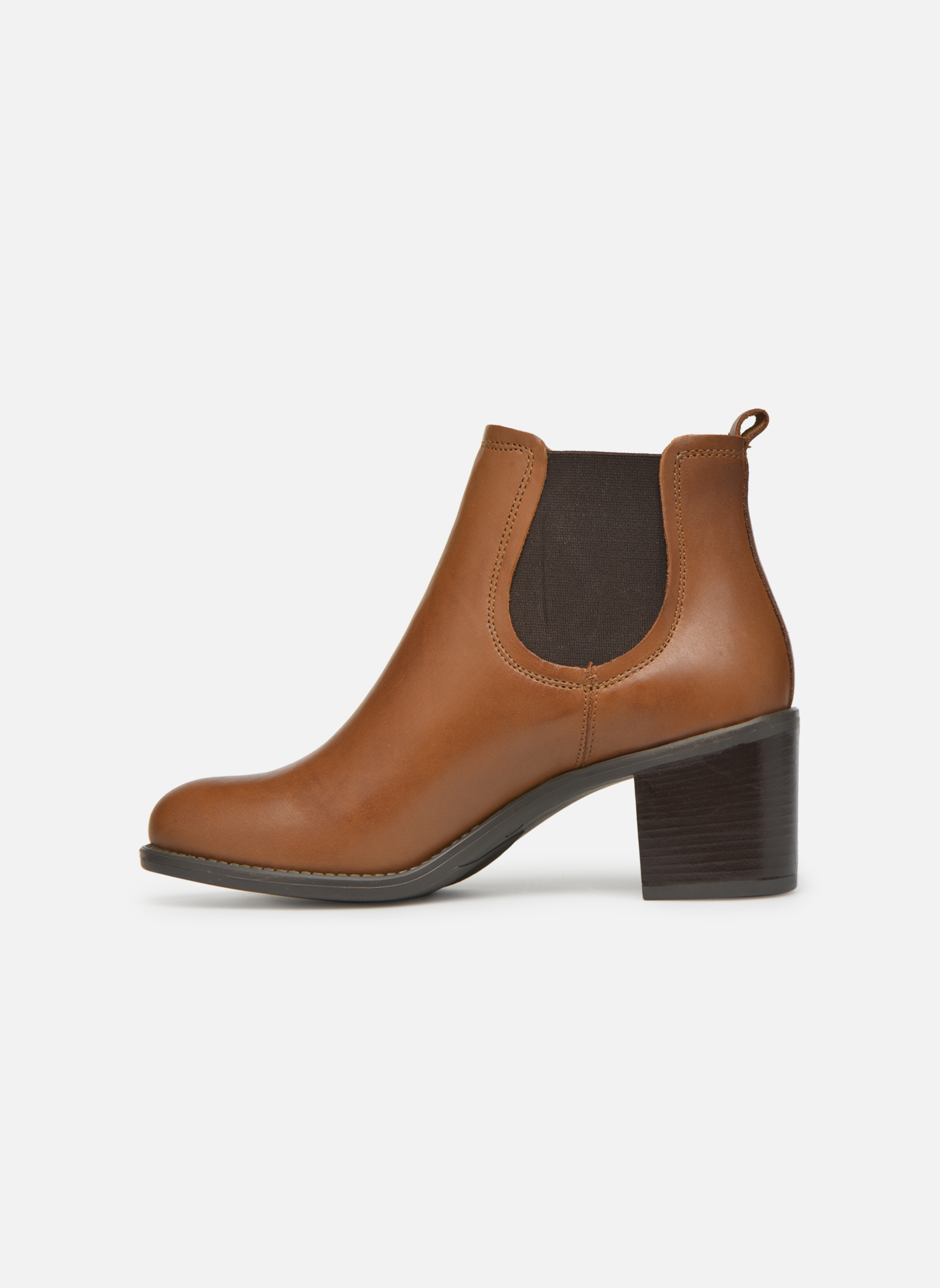 Ankle boots Georgia Rose Analla Brown front view