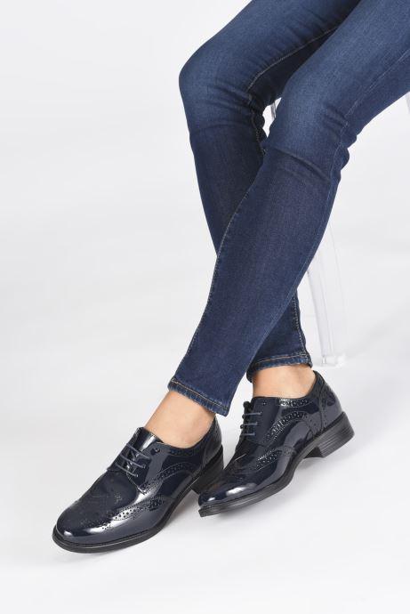 Chaussures à lacets Georgia Rose Anglish Bleu vue bas / vue portée sac