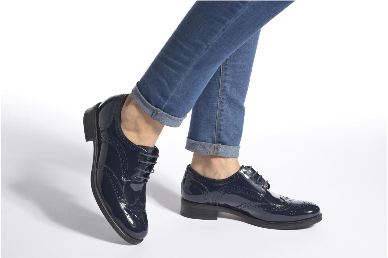 Chaussures à lacets Georgia Rose Anglish Noir vue bas / vue portée sac