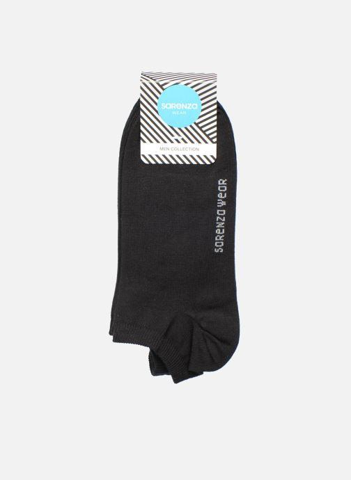 Chaussettes et collants Sarenza Wear Chaussettes invisibles Homme unies Pack de 3 Coton Noir vue derrière