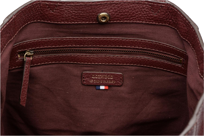 Sacs à main Loxwood CABAS PARISIEN S Cuir grainé Bordeaux vue derrière