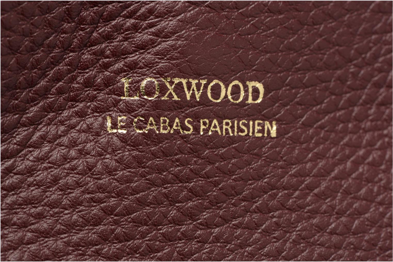 Sacs à main Loxwood CABAS PARISIEN S Cuir grainé Bordeaux vue gauche