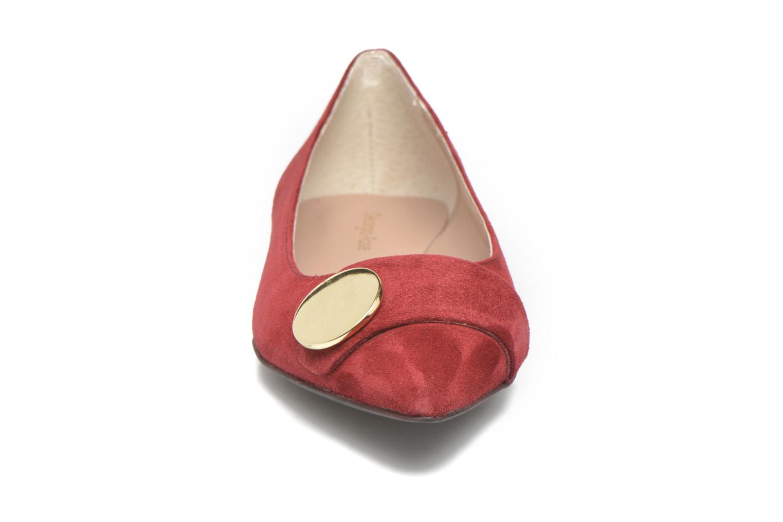 Ballet pumps Georgia Rose Jaol Burgundy model view