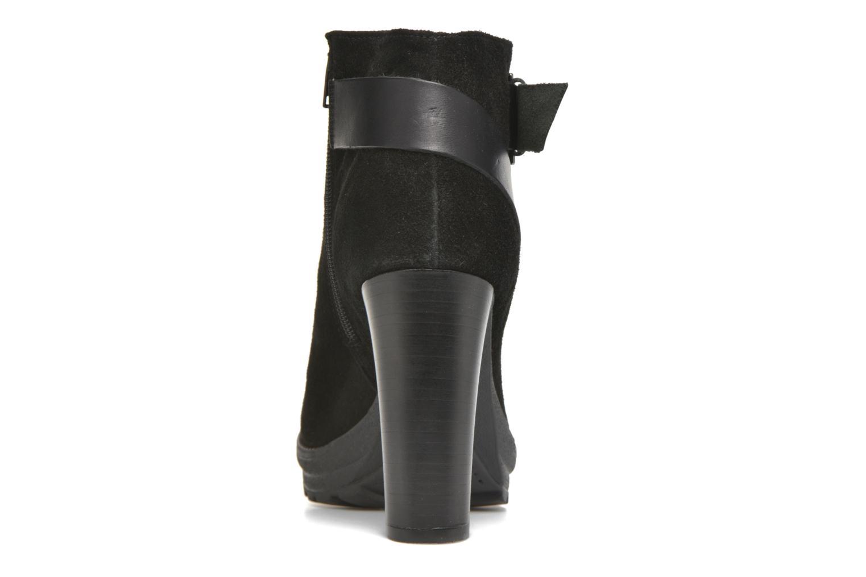 Bottines et boots Georgia Rose Jalape Noir vue droite