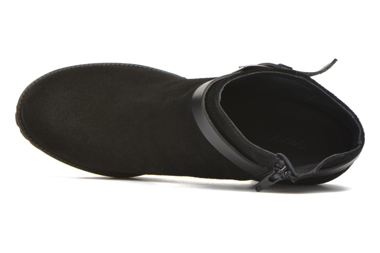 Bottines et boots Georgia Rose Jalape Noir vue gauche