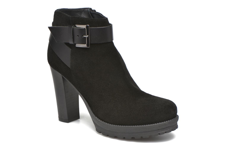 Bottines et boots Georgia Rose Jalape Noir vue détail/paire