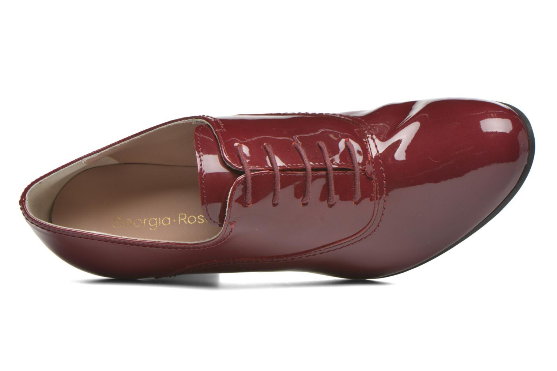 Chaussures à lacets Georgia Rose Jata Bordeaux vue gauche