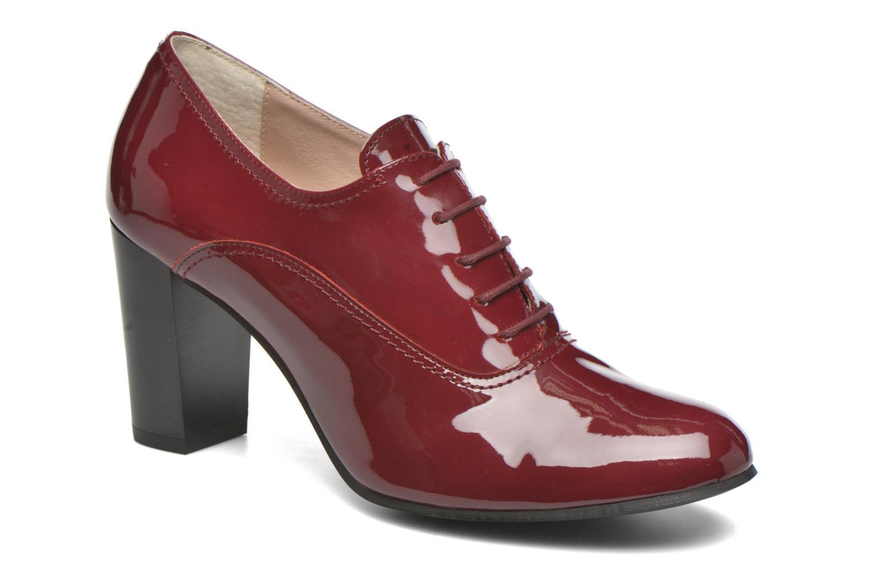 Chaussures à lacets Georgia Rose Jata Bordeaux vue détail/paire