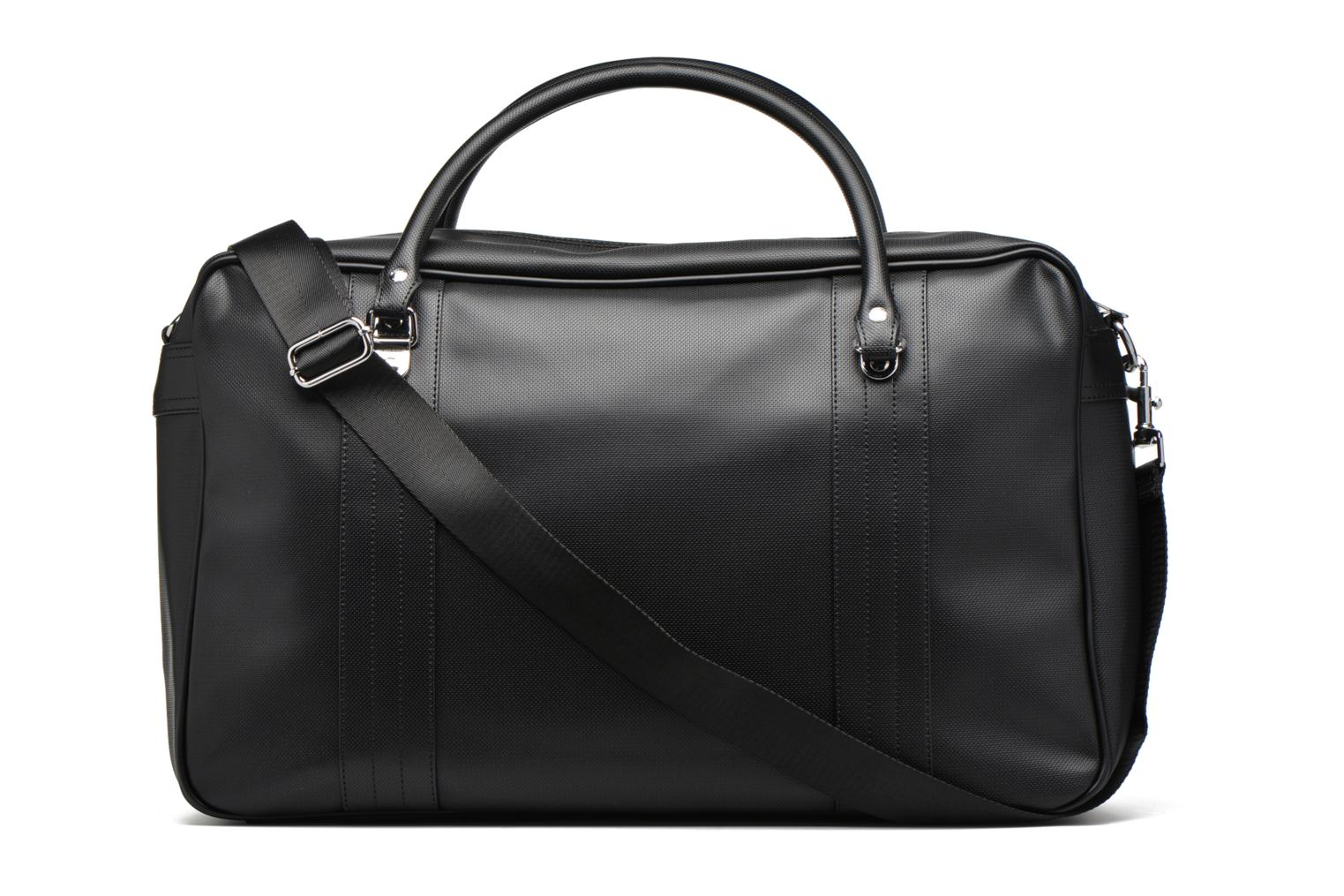 Bagages Fred Perry Piqué overnight bag Noir vue face