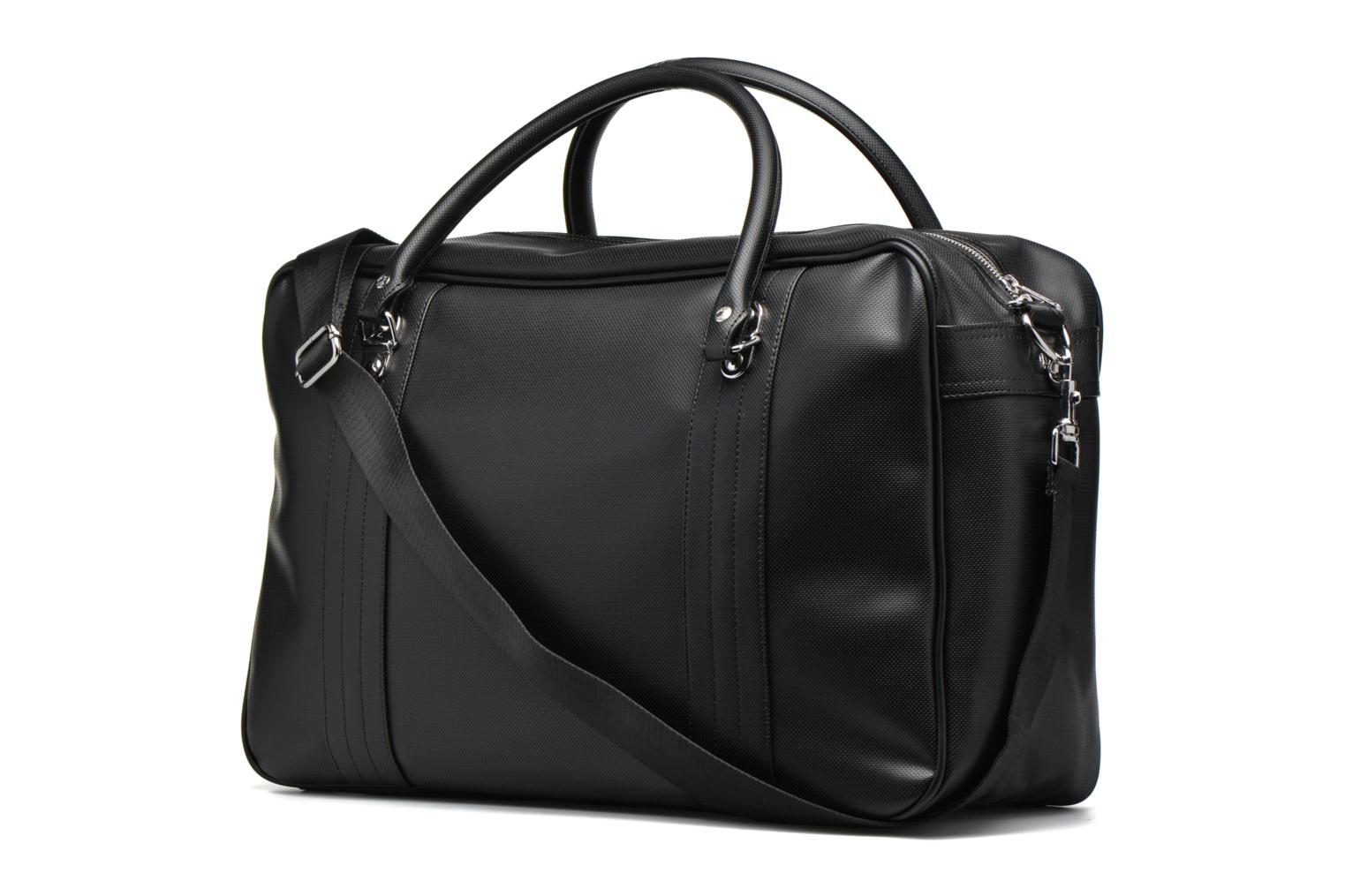 Bagage Fred Perry Piqué overnight bag Zwart rechts