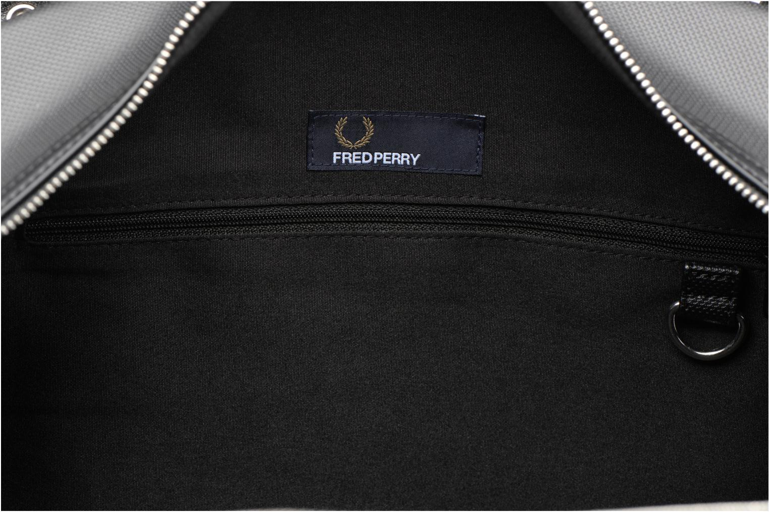Bagage Fred Perry Piqué overnight bag Zwart achterkant