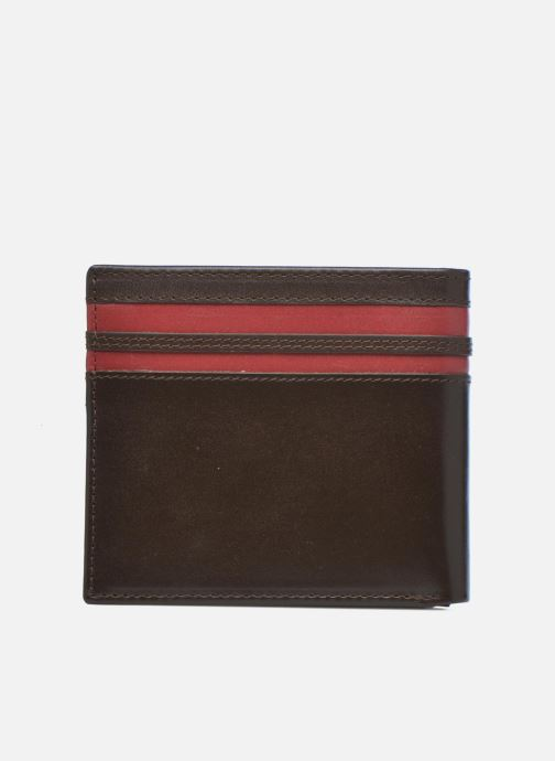 Petite Maroquinerie Fred Perry Portefeuille cuir Marron vue face