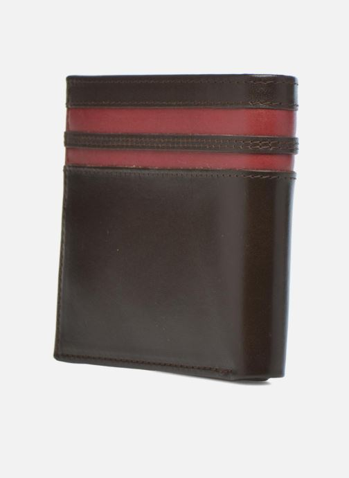 Petite Maroquinerie Fred Perry Portefeuille cuir Marron vue droite