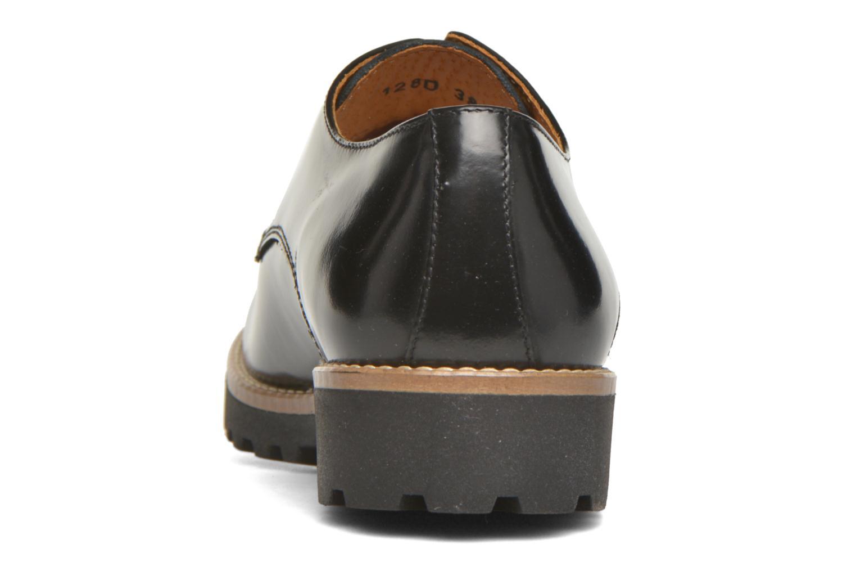 Zapatos con cordones Georgia Rose Nicran Negro vista lateral derecha