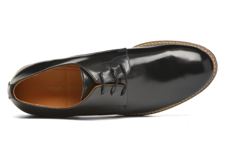 Zapatos con cordones Georgia Rose Nicran Negro vista lateral izquierda