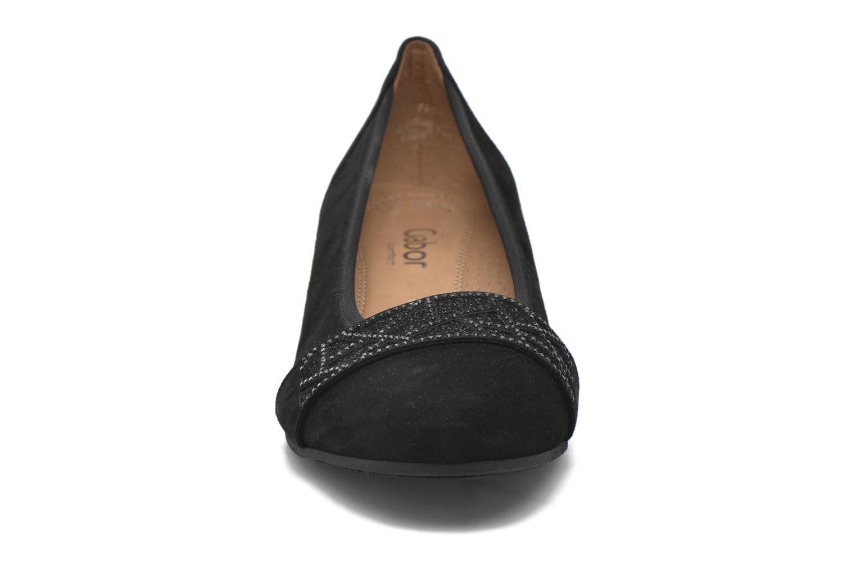 Ballerines Gabor Jane Noir vue portées chaussures