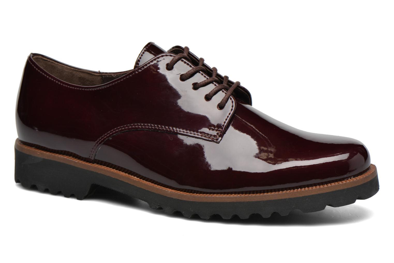 Chaussures à lacets Gabor Brie Bordeaux vue détail/paire