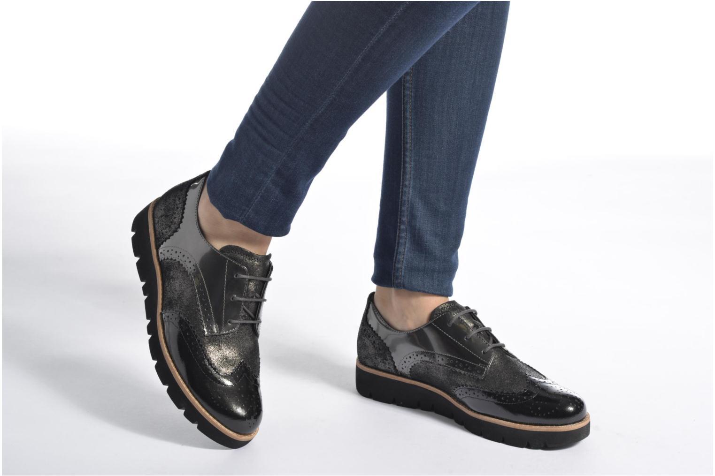 Chaussures à lacets Gabor Susan Gris vue bas / vue portée sac
