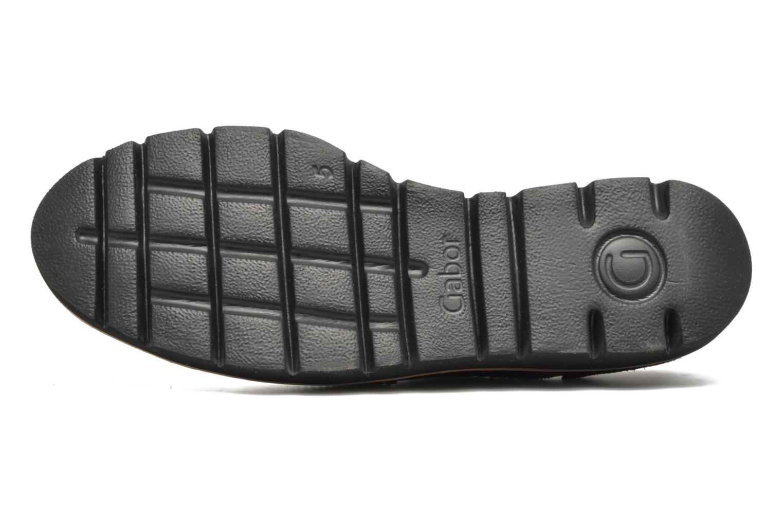 Chaussures à lacets Gabor Susan Gris vue haut