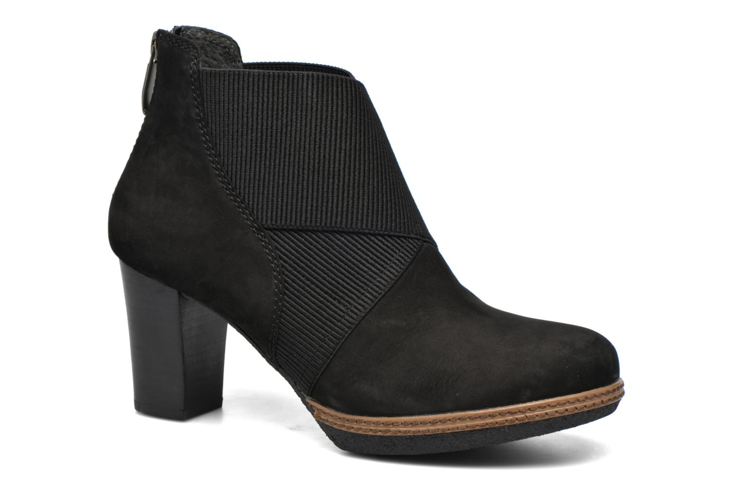 Ankle boots Gabor Mathilde Black detailed view/ Pair view
