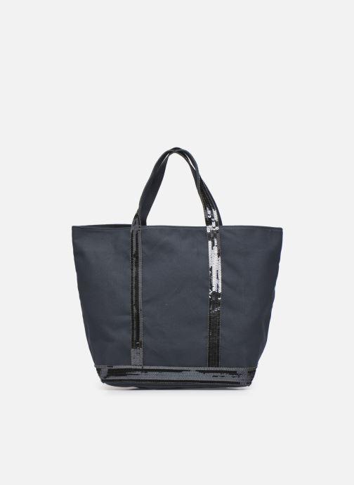 Handtassen Vanessa Bruno Cabas M En Toile Coton Et Paillettes Blauw detail