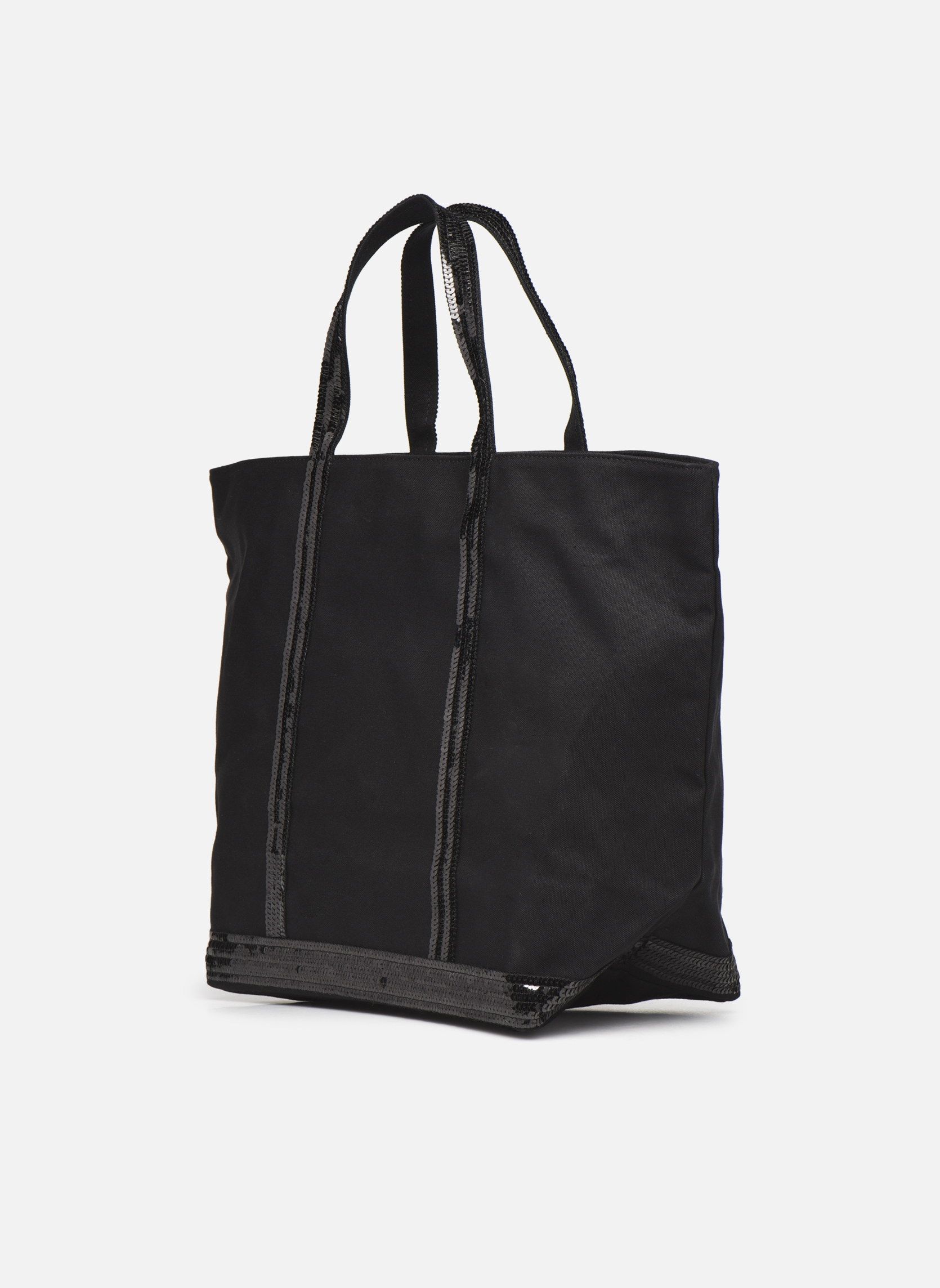 Handbags Vanessa Bruno Cabas  M+ Black view from the right