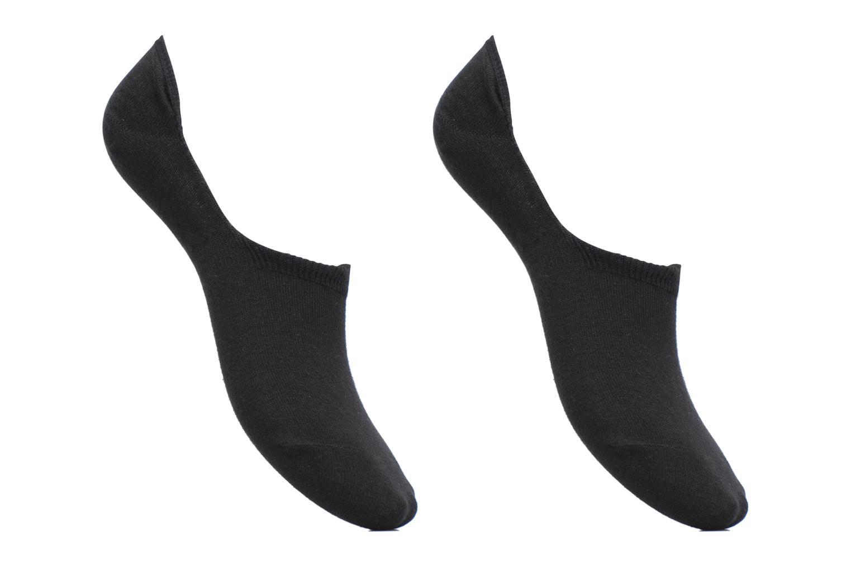 Chaussettes et collants Sarenza Wear Chaussettes Protèges - Pieds Homme : pack de 2 coton Noir vue détail/paire