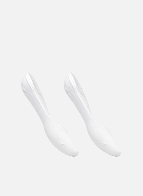 Chaussettes et collants Sarenza Wear Chaussettes Protèges - Pieds Femme : pack de 2 coton Blanc vue détail/paire