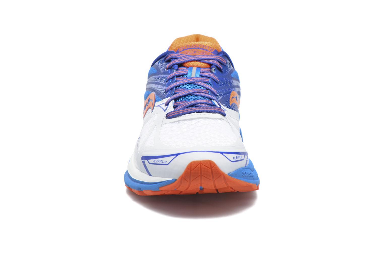 Chaussures de sport Saucony Ride 9 Bleu vue portées chaussures