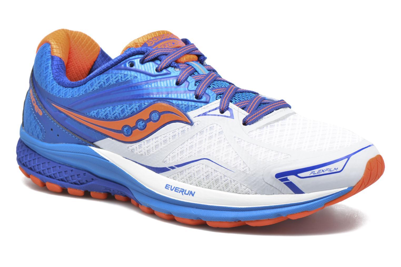 Chaussures de sport Saucony Ride 9 Bleu vue détail/paire