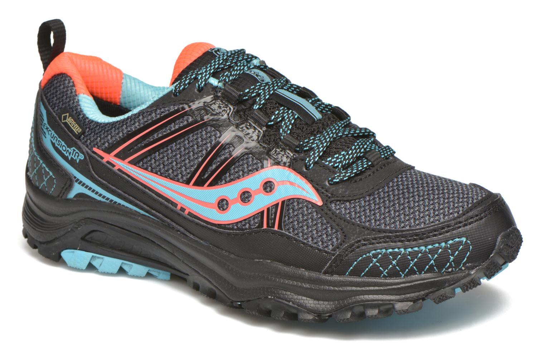 Chaussures de sport Saucony Excursion TR10 GTX W Noir vue détail/paire