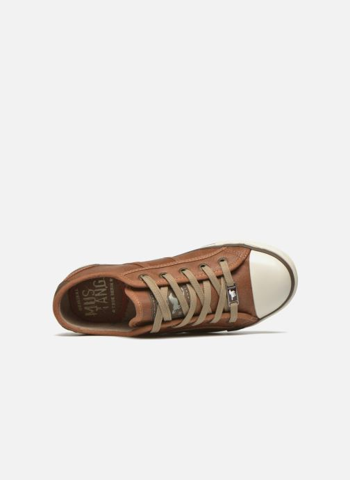 Trainers Mustang shoes Pluy Brown view from the left