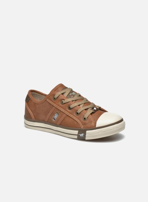 Trainers Mustang shoes Pluy Brown detailed view/ Pair view