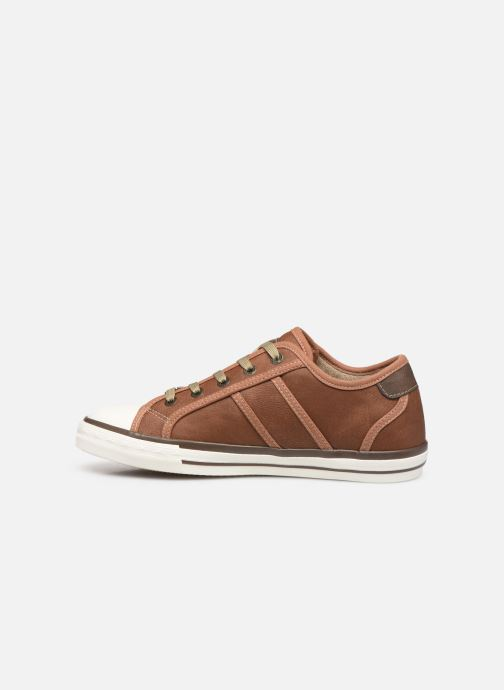 Trainers Mustang shoes Pluy Brown front view