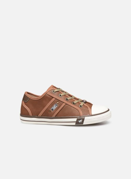 Trainers Mustang shoes Pluy Brown back view