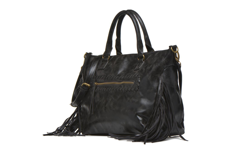 Sacs à main Pieces POLTA Bag Noir vue portées chaussures