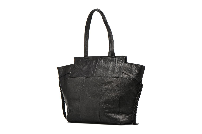 Sacs à main Pieces POFO Leather bag Noir vue droite