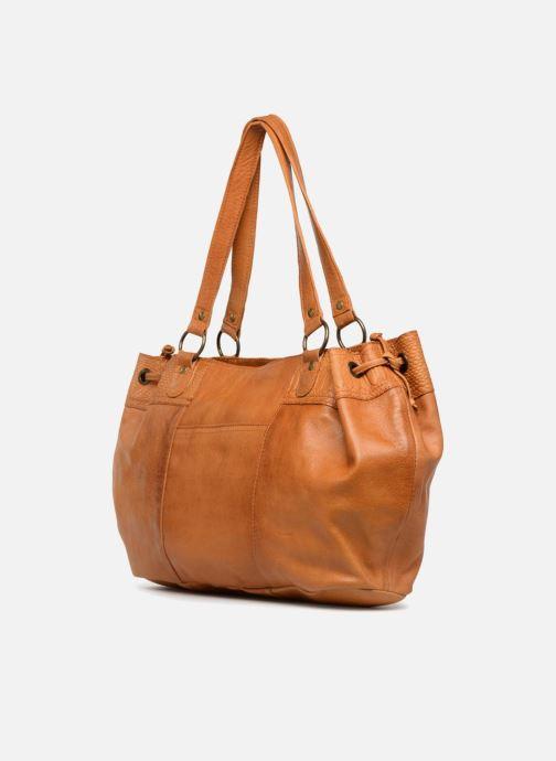 Sacs à main Pieces PIHANNA Leather bag Marron vue droite